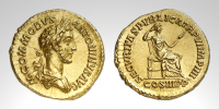 A GOLD AUREUS OF COMMODUS
