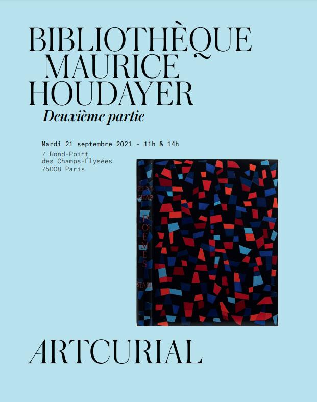 Vente Bibliothèque Maurice Houdayer - Part 2 chez Artcurial : 416 lots