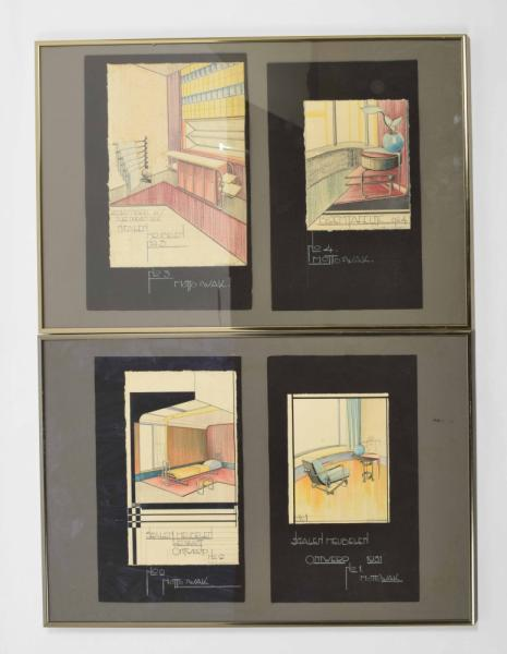 [Fine arts: 20th century] W.A.J. Kraan (1910-1991) - designs for steel furniture [...]