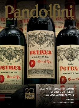 Vente Une Prestigieuse Sélection de Vins et Spiritueux de Collections Privées (Firenze) chez Pandolfini Casa d'Aste : 154 lots