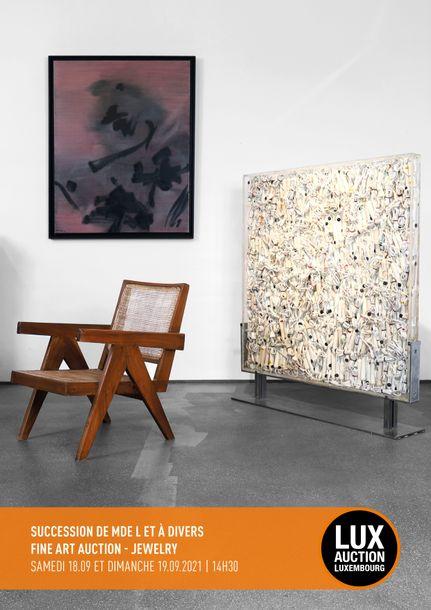 Vente SUCCESSION DE MME L & À DIVERS FINE ART AUCTION DESIGN chez Lux-Auction : 163 lots