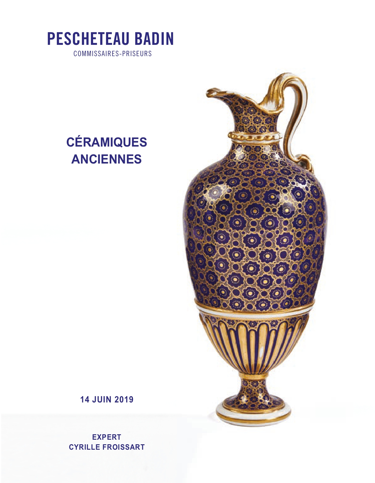Vente Céramiques Anciennes chez Pescheteau-Badin : 172 lots