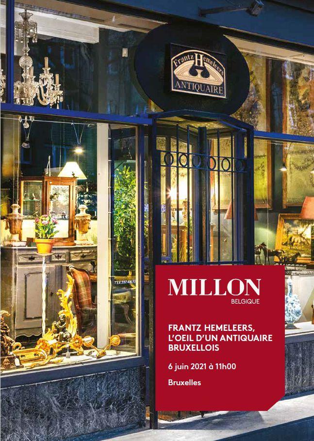 Vente Frantz Hemeleers, l'Oeil d'un Antiquaire Bruxellois chez Millon Belgique : 504 lots