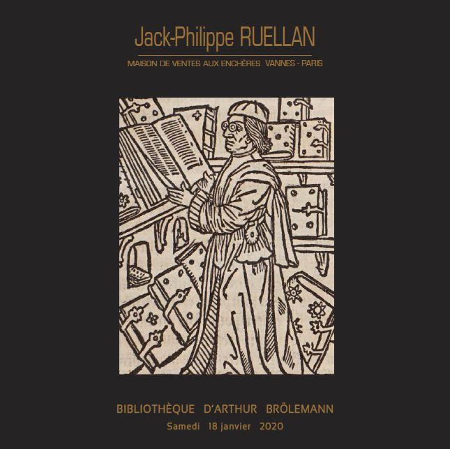 Vente Bibliothèque d'Arthur Brölemann chez Jack-Philippe Ruellan : 260 lots