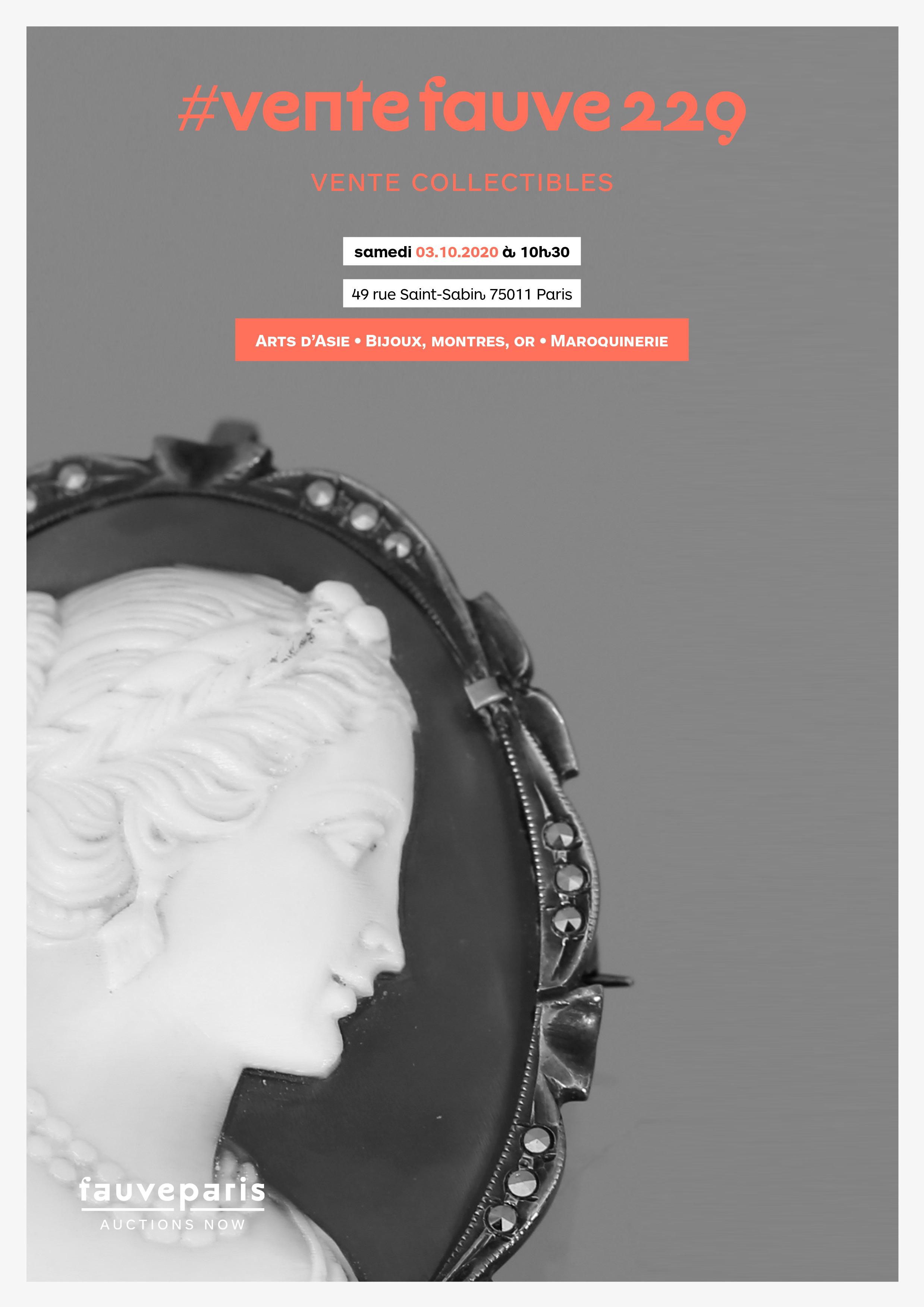 Vente #Ventefauve229 : Arts d'Asie • Bijoux, Montres, Or • Maroquinerie chez FauveParis : 57 lots