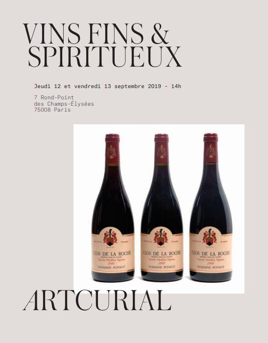 Vente Vins fins & Spiritueux - 2ème Vacation chez Artcurial : 224 lots