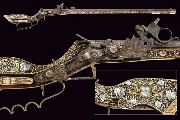 A beautiful wheel-lock tschinke - dating: 17th Century  - provenance: Teschen, [...]