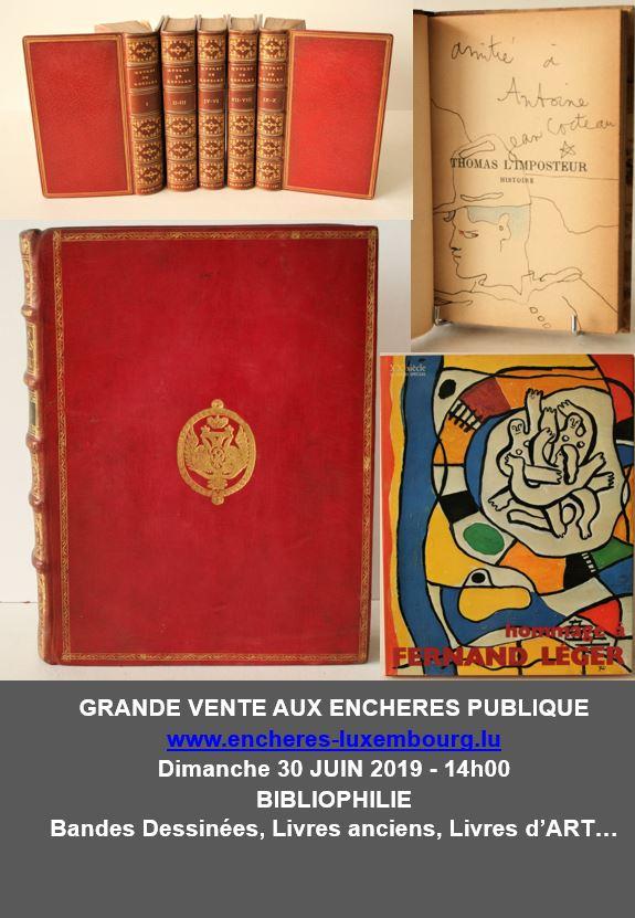 Vente Bibliophilie : Bandes Dessinées, Livres anciens, Livres d'art… chez Kanerz Art : 316 lots