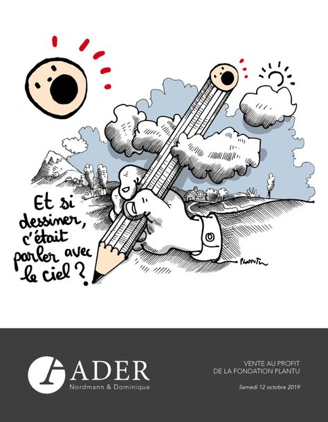 Vente Vente Caritative au Profit de la Fondation Plantu chez Ader : 51 lots