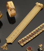 Beau Bracelet ceinture en or, Bijoux, Mobilier, Objets d Art, Tapis ... 40bea2a0306