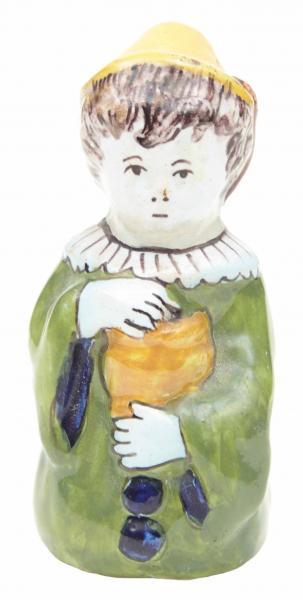 Delft - XVIIe siècle Pierrot Rare sujet en faïence polychrome de grand [...]