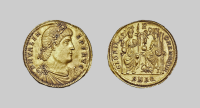 EMPIRE. - A GOLD 2 SOLIDI MEDALLION OF VALENS, Aquileia, ca...
