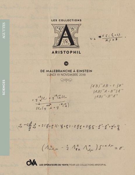 Collection Aristophil : Sciences : De Malebranche à Einstein