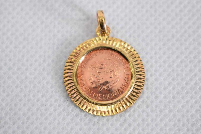 Münze Im Goldanhänger 333 Gold Gewicht Ca 2g D 2174 Mm John