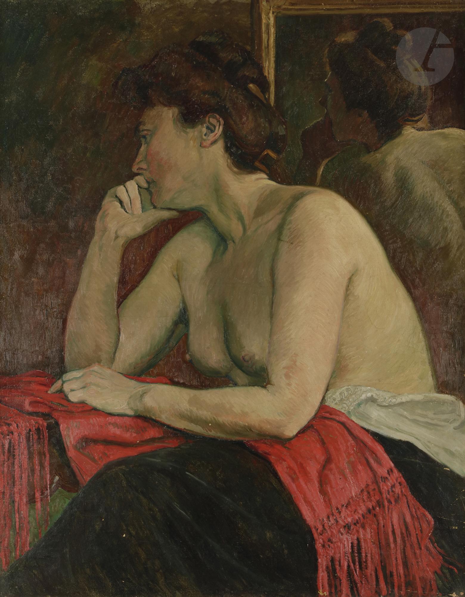 *Georges-Daniel de MONFREID (1856-1929) - Olympe Rollet au châle rouge,  1912 - [...], Art Moderne à Ader | Ader