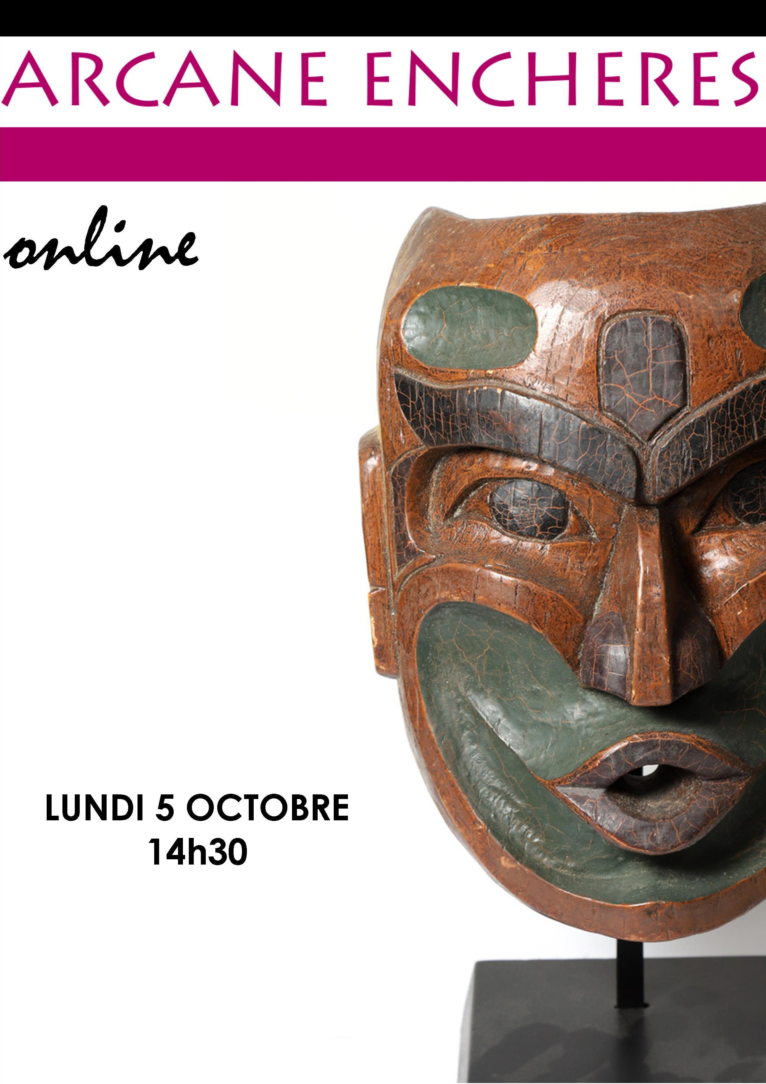 Vente Esprits d'hier et d'aujourd'hui, Alaska - Amérique du Nord - Afrique Masques et Artefacts chez ARCANE ENCHERES : 180 lots