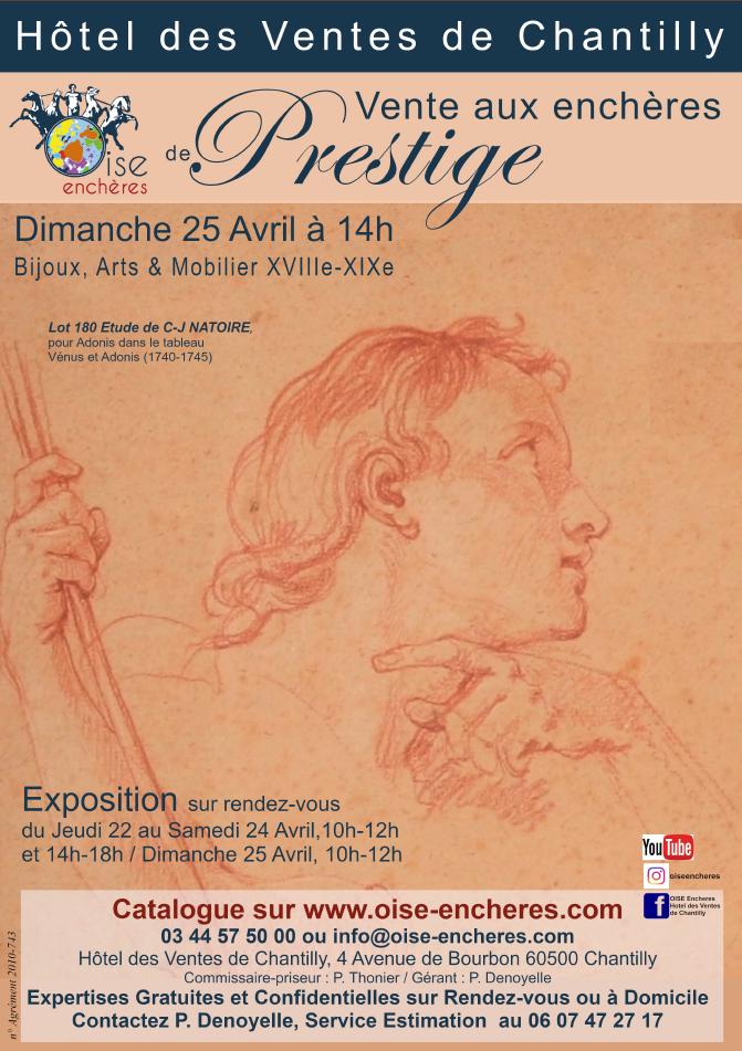 Vente Bijoux, Tableaux, Sculptures, Objets d'Art et Mobilier du XVIIIè au XXè siècle chez Oise Enchères : 364 lots