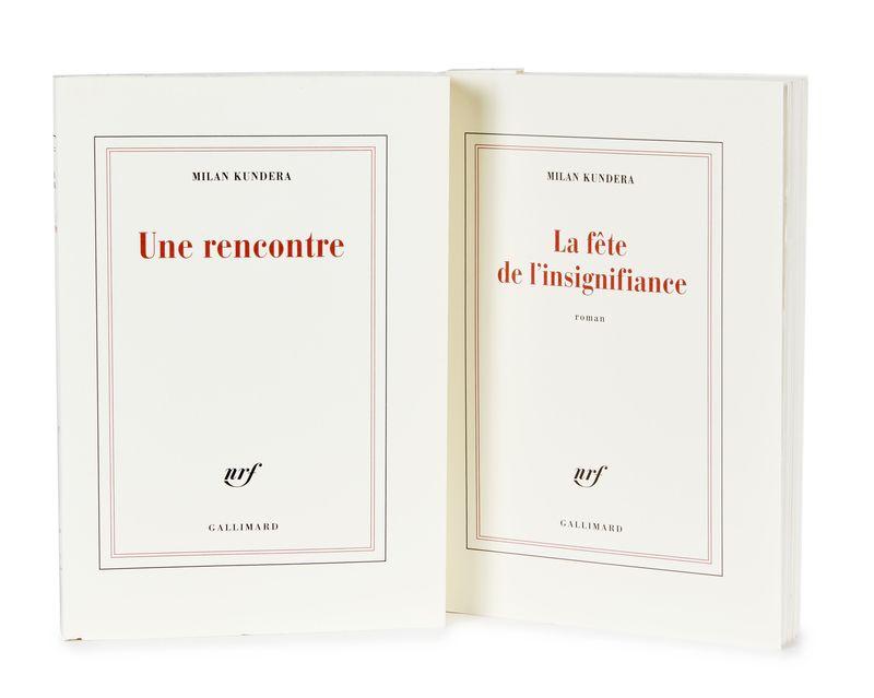 KUNDERA (Milan) - Réunion de 2 ouvrages de Milan Kundera. - - Une Rencontre. [...]
