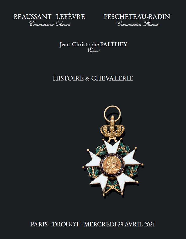Vente Histoire & Chevalerie chez Pescheteau-Badin : 111 lots