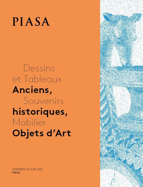 Vente Dessins et Tableaux Anciens, Souvenirs Historiques, Mobilier Objets d'Art chez Piasa : 181 lots