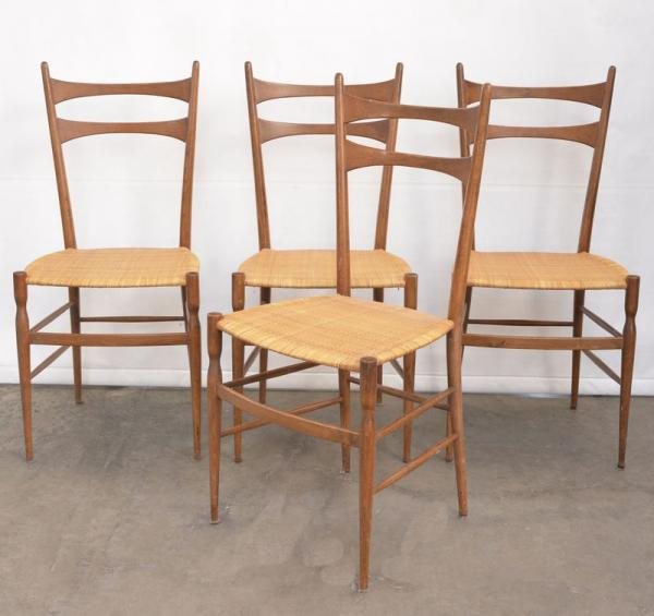 Quattro sedie chiavarine in legno di frassino. Produzione ...