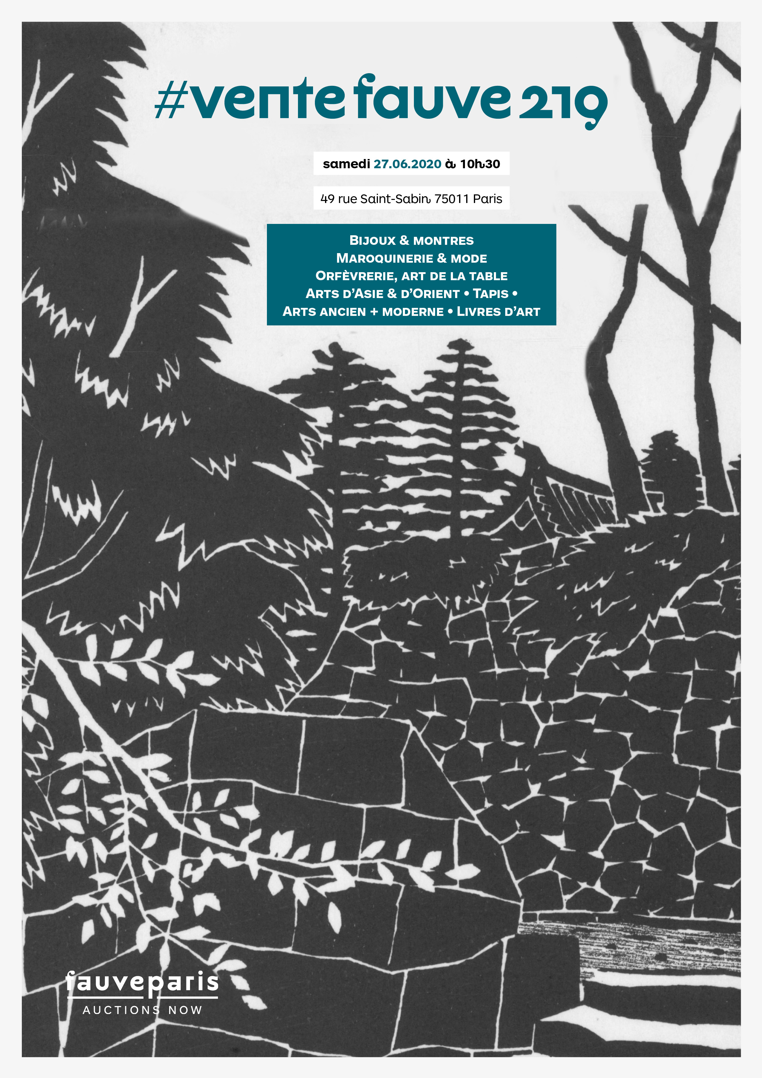 Vente #VenteFauve219 : Bijoux, Maroquinerie, Orfèvrerie, Arts d'Asie & d'Orient, Tapis, Arts ancien & Moderne, Livres chez FauveParis : 66 lots
