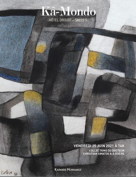 Vente ARTS PREMIERS -DESIGN -TABLEAUX MODERNES ET CONTEMPORAINS chez Kâ-Mondo (Kapandji Morhange) : 228 lots