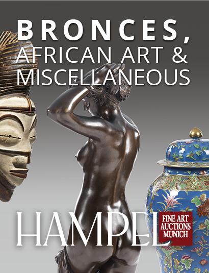 Vente Catalogue VI - Sculpture en bronze, Art africain, Céramique islamique, Hampel Living & divers chez Hampel Fine Art Auctions : 409 lots