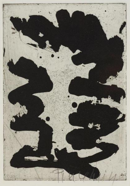 1984 Le jour après Jean Pierre PINCEMIN  Affiche Galerie de France