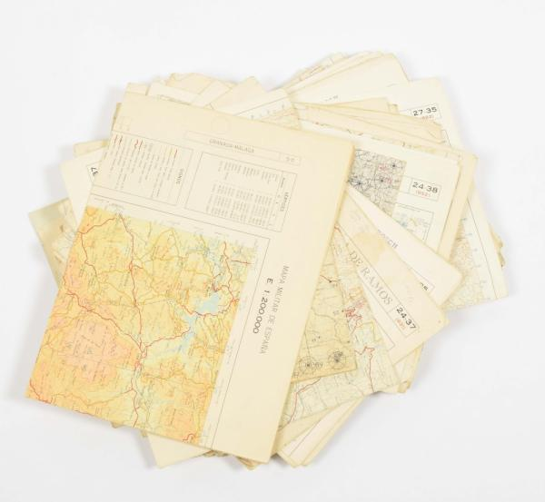 [Cartography & atlases] [Spain] Lot with 81 military maps of Spain - 1950s-60s. From [...]