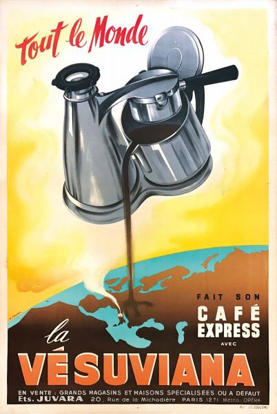 Pezeril F., EVERYONE MAKES THE COFFEE EXPRESS WITH VESUVIANA - First edition [...]