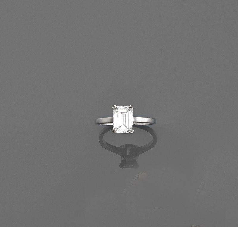 Extrêmement Bague diamant solitaire - Elle est ornée d'un diamant  PA42