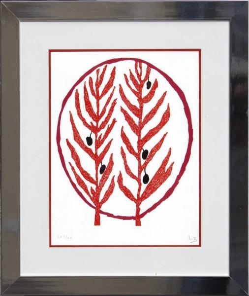 Louise Bourgeois 1911 2010 Feuille D Olivier 2002 Lithographie En Lot 35 Art Moderne Et Contemporain Livres Estampes Tableaux Sculptures Chez Cannes Encheres Auction Fr