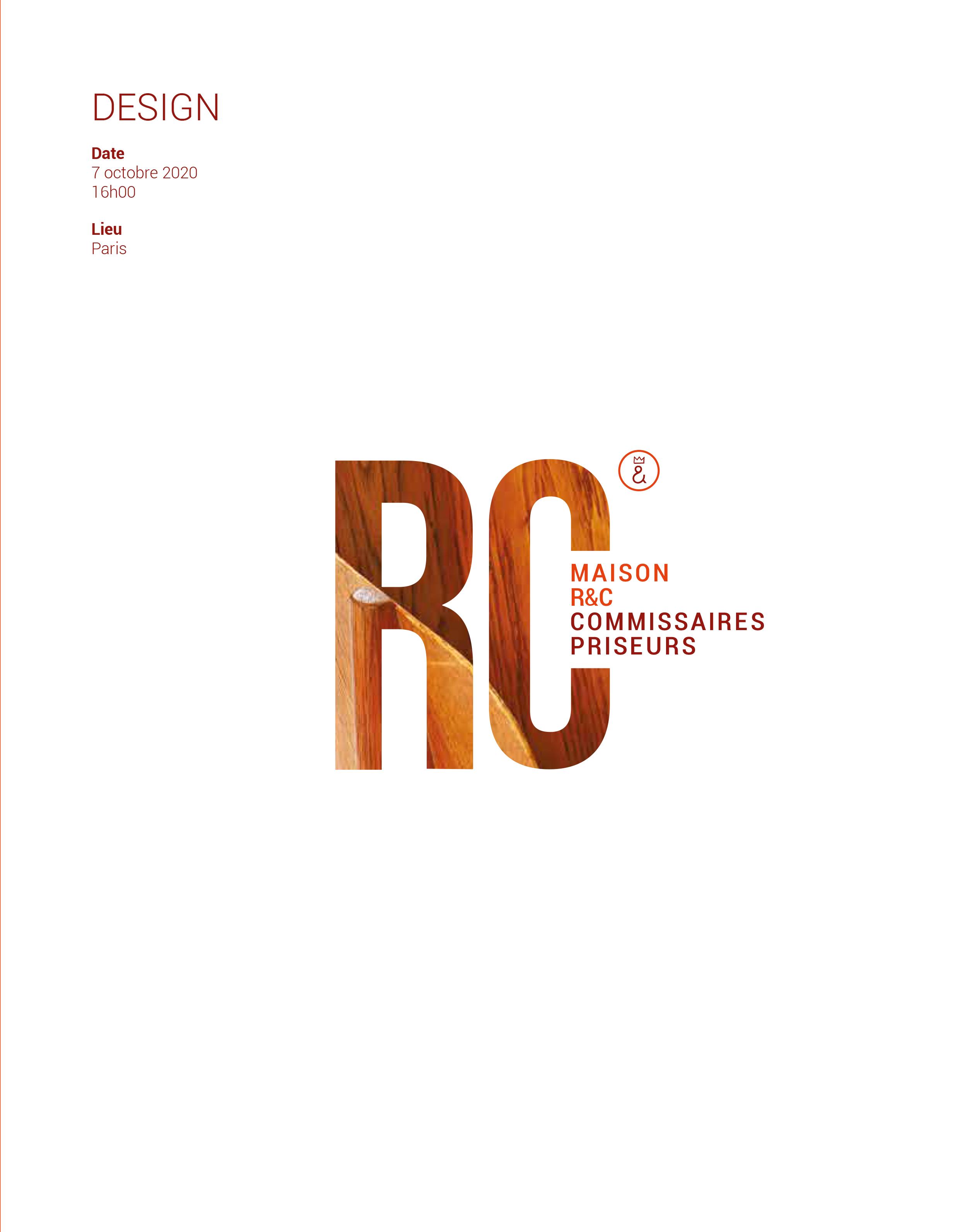 Vente Design chez Maison R&C Commissaires-Priseurs Associés : 197 lots