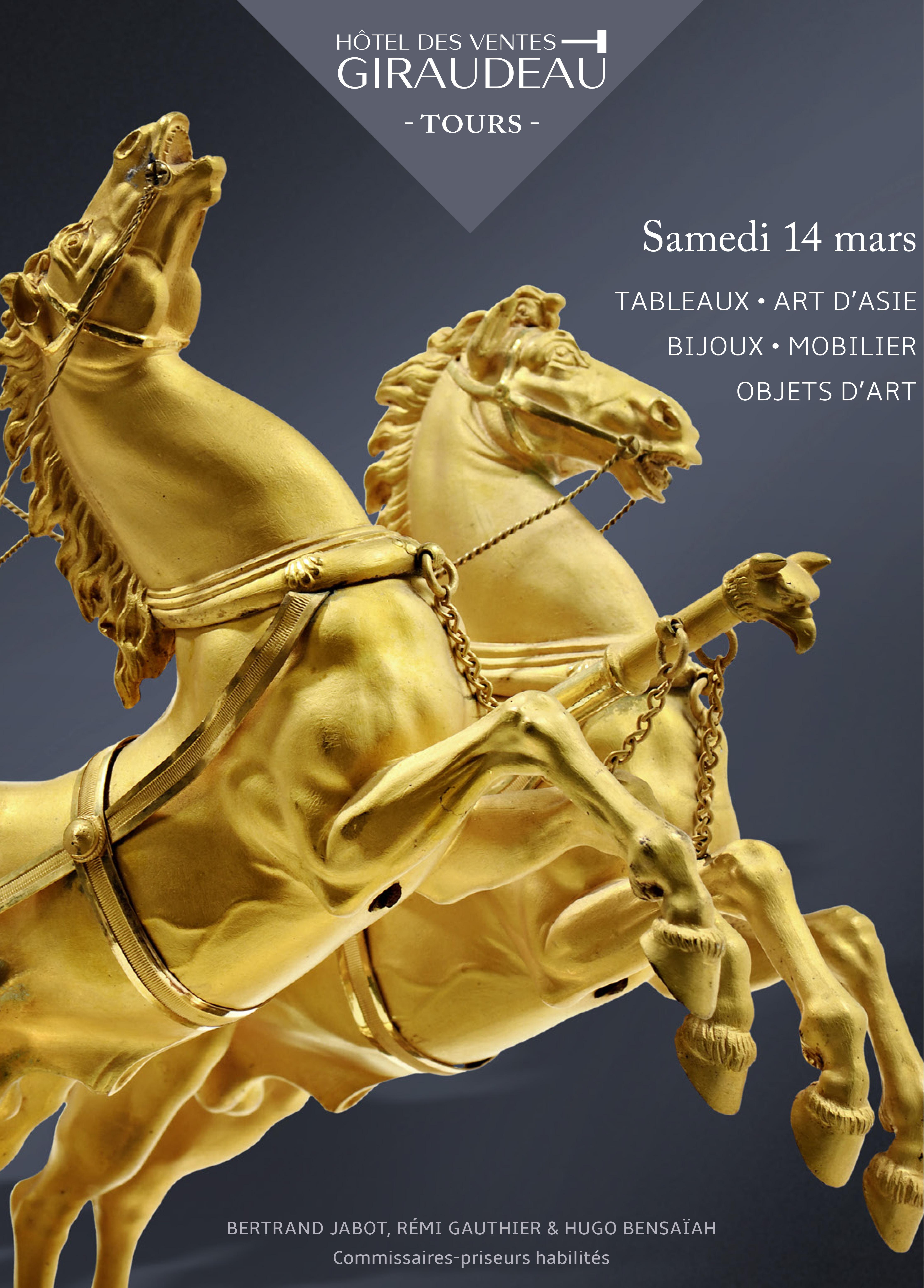 Vente Mobilier, Objets d'Art chez Hôtel des Ventes Giraudeau : 330 lots