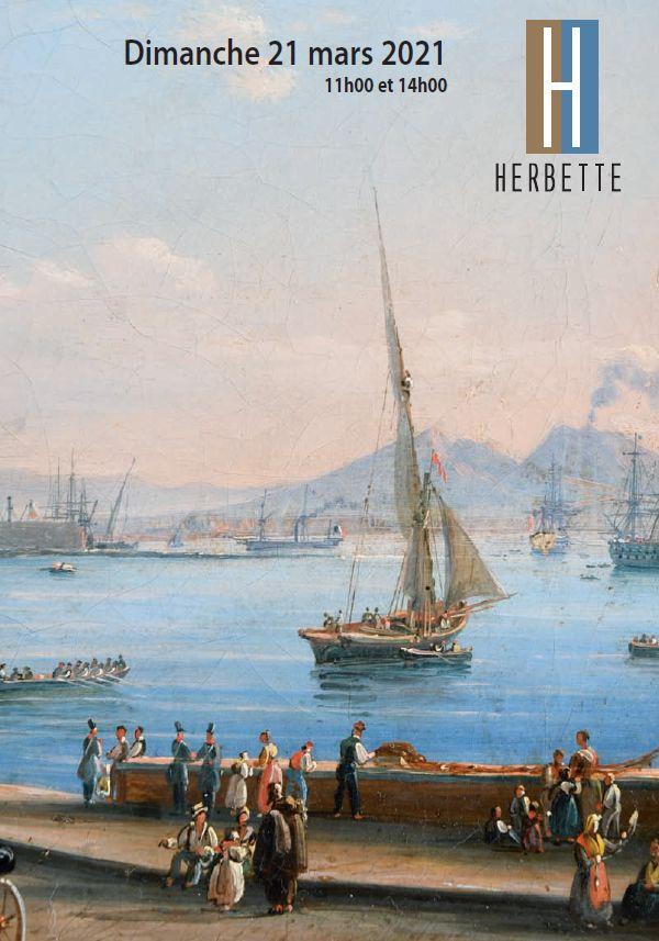 Vente Objets d'Art et de bel Ameublement, Tableaux anciens, XIXe et modernes chez SARL SVV Denis Herbette : 420 lots