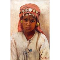 Lot 73   GASTON DUREL (1879-1954) - JEUNE FILLE AU FOULARD ROSE - YOUNG  GIRL WITH A PINK  ...  0c2ac8db675
