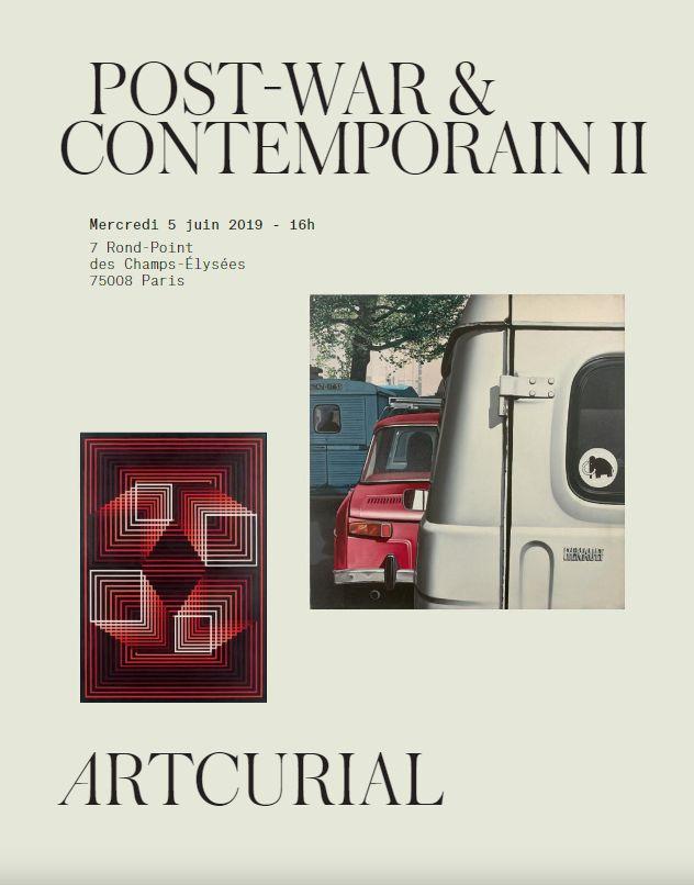 Vente Post-War  & Contemporain II chez Artcurial : 163 lots