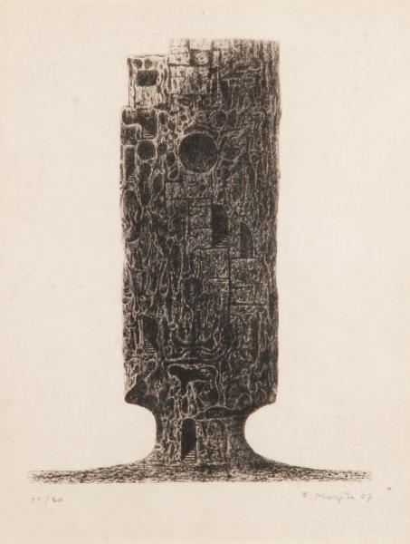 František Muzika (1900-1974) - Tower - 23,5 x 18,5, lithography, signed lower/right [...]