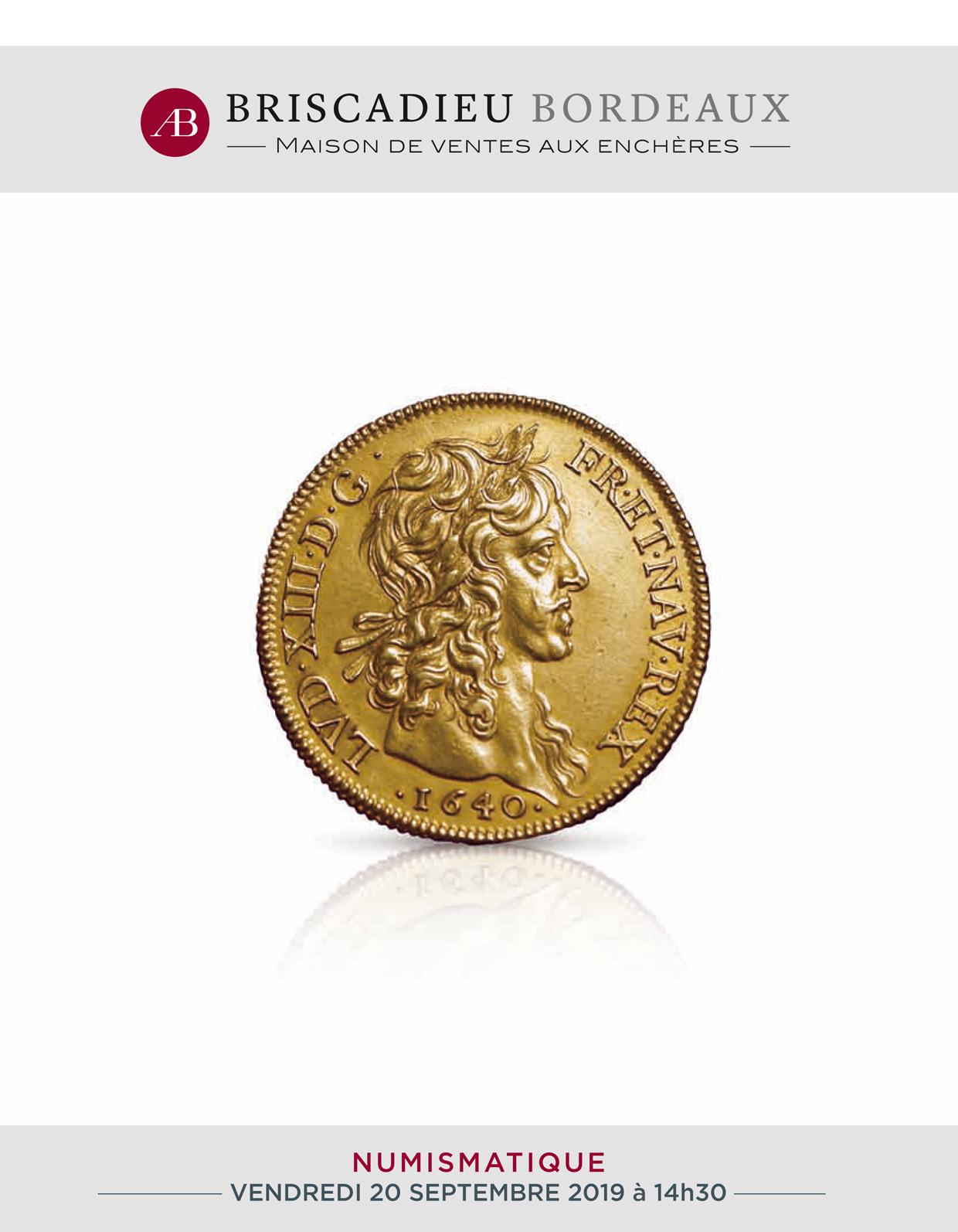 Vente Numismatique chez Briscadieu Bordeaux : 192 lots