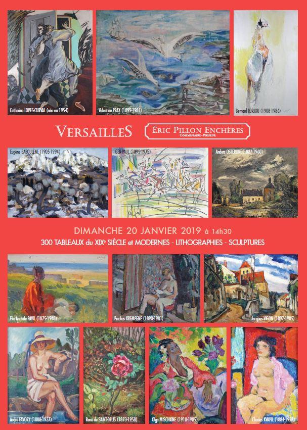 Vente 300 Tableaux du XIXe Siècle et Modernes - Lithographies - Sculptures chez Eric Pillon Enchères : 309 lots