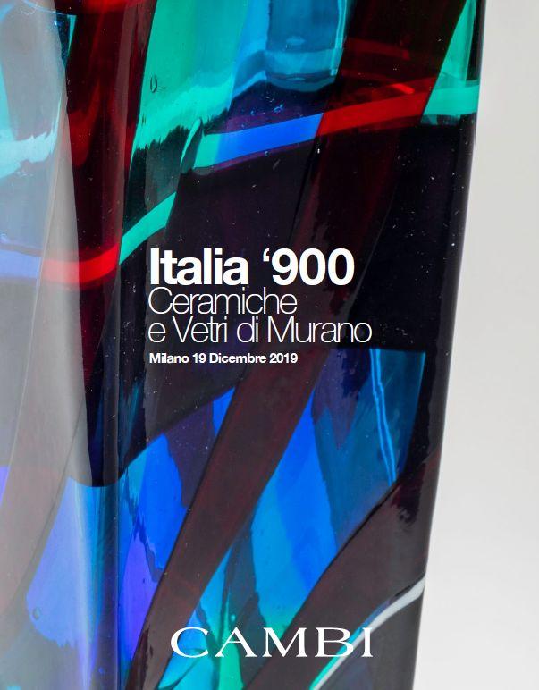 Vente Italie '900, Céramiques et Verres de Murano (Milano)  chez Cambi Casa d'Aste : 326 lots