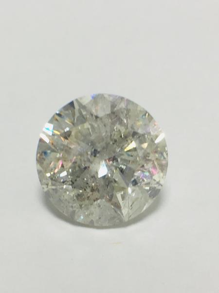 6.57ct round Brilliant cut natural diamond ,H colour,i2 clarity, diamond is tested as [...]