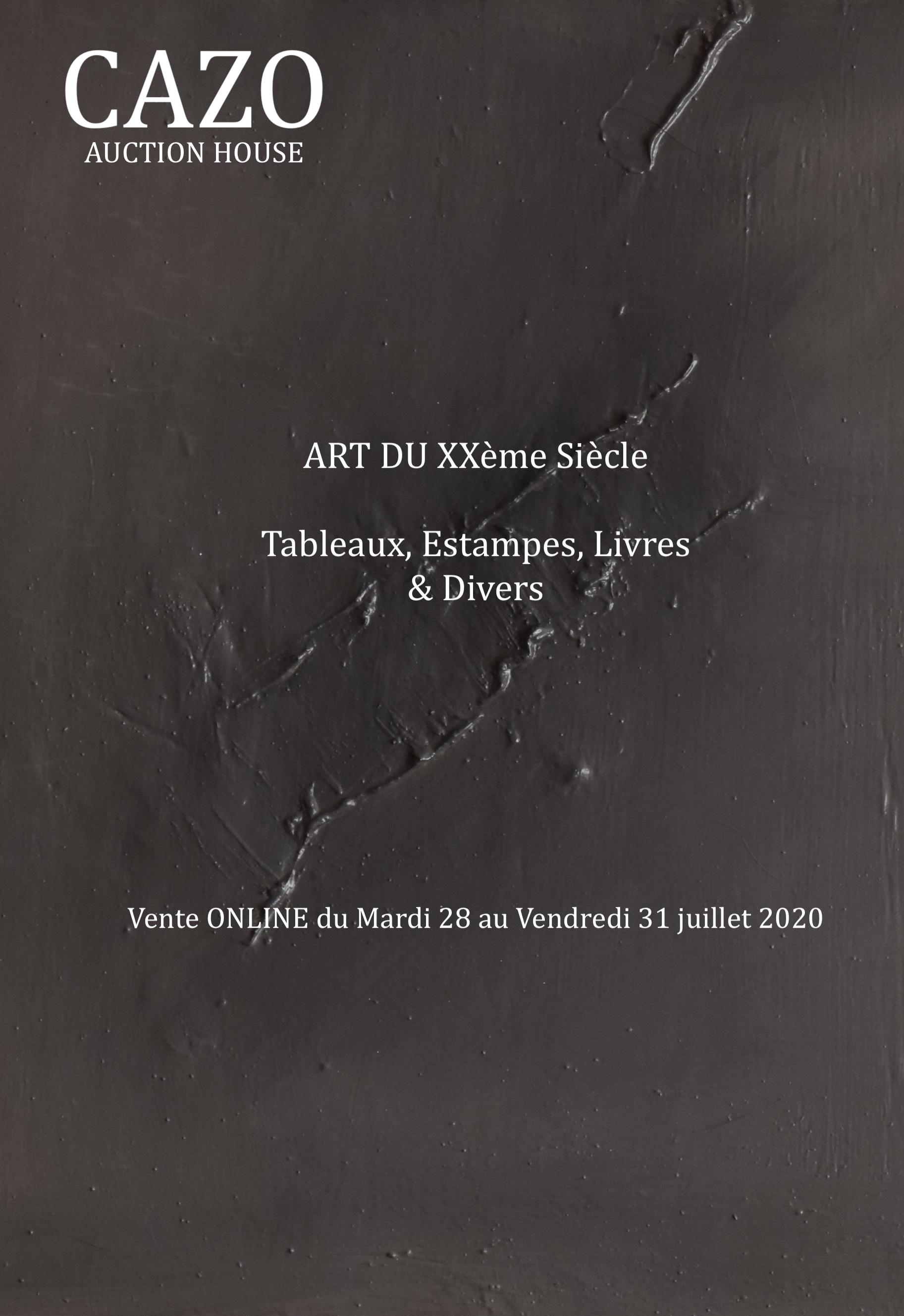 Vente Art du XXème siècle chez Cazo SVV : 33 lots