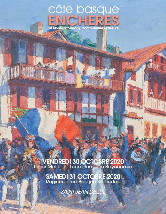 Auction Régionalisme Basque & Landais at Côte Basque Enchères : 223 lots