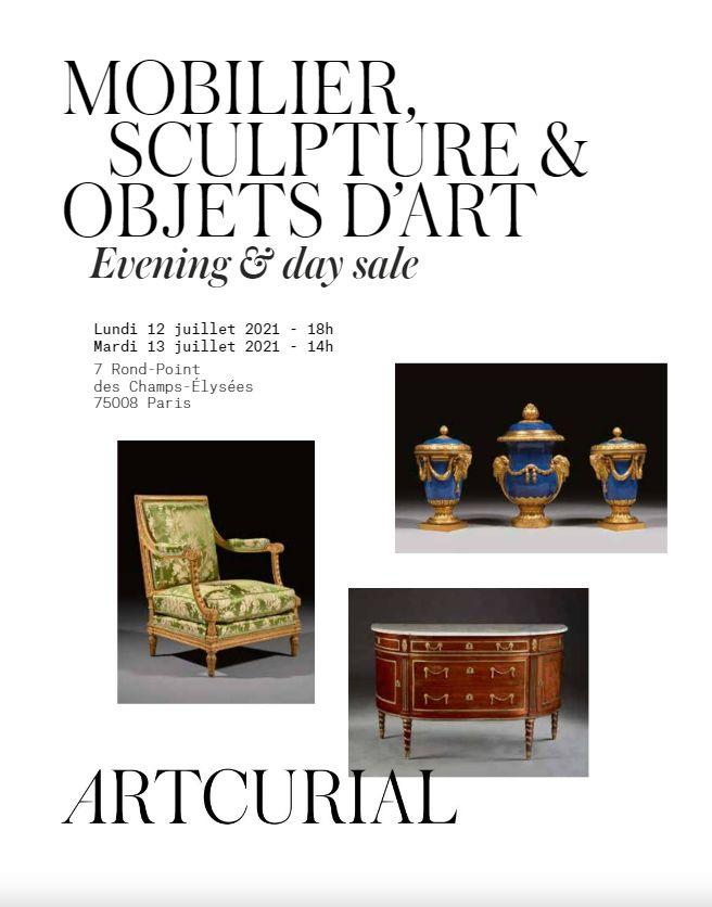 Vente Mobilier, Sculpture et Objets d'Art - Vacation 1 chez Artcurial : 65 lots