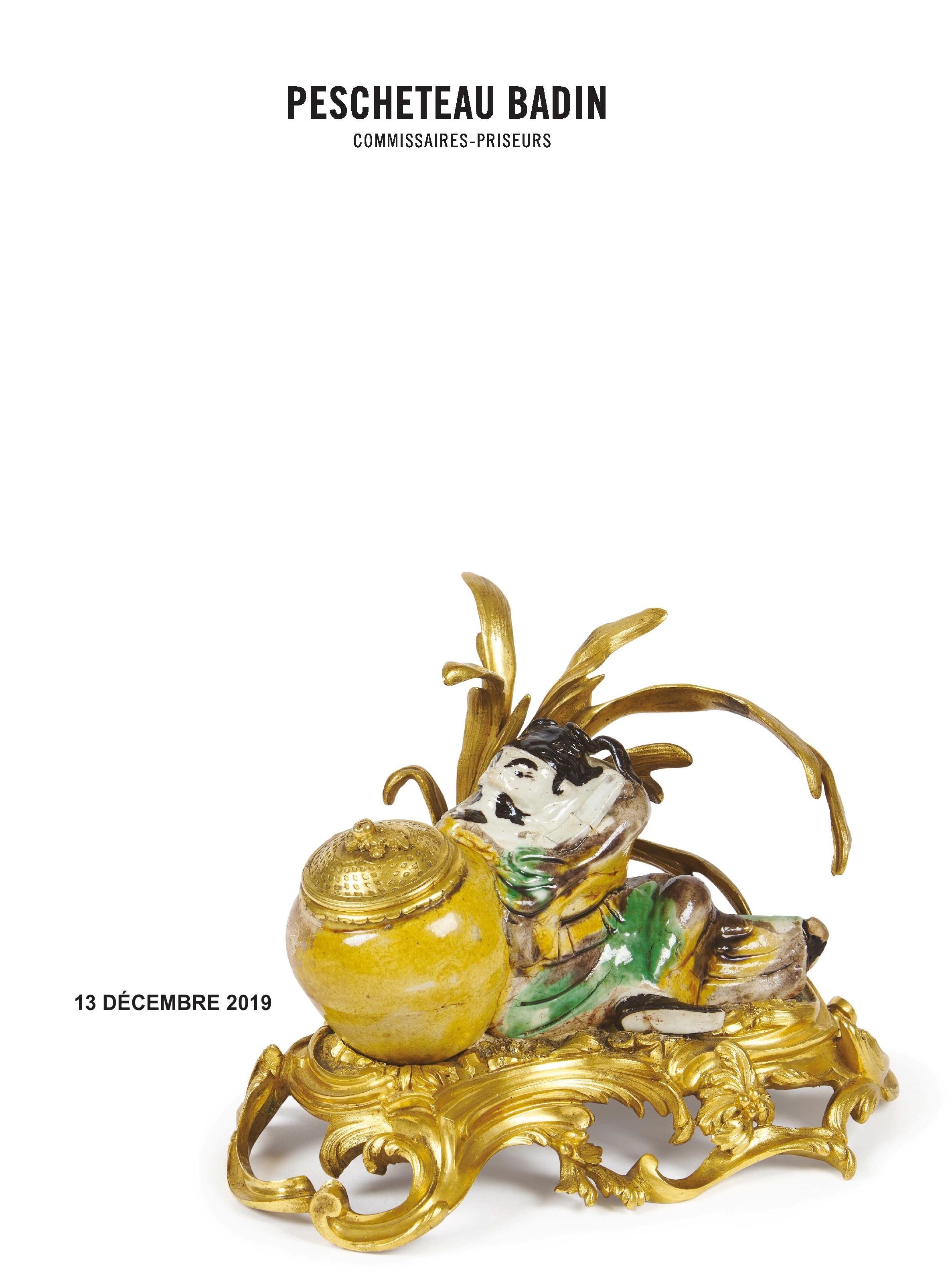 Vente Dessins & Tableaux Anciens, Objets d'Art & d'Ameublement, Arts et Porcelaines d'Asie chez Pescheteau-Badin : 350 lots