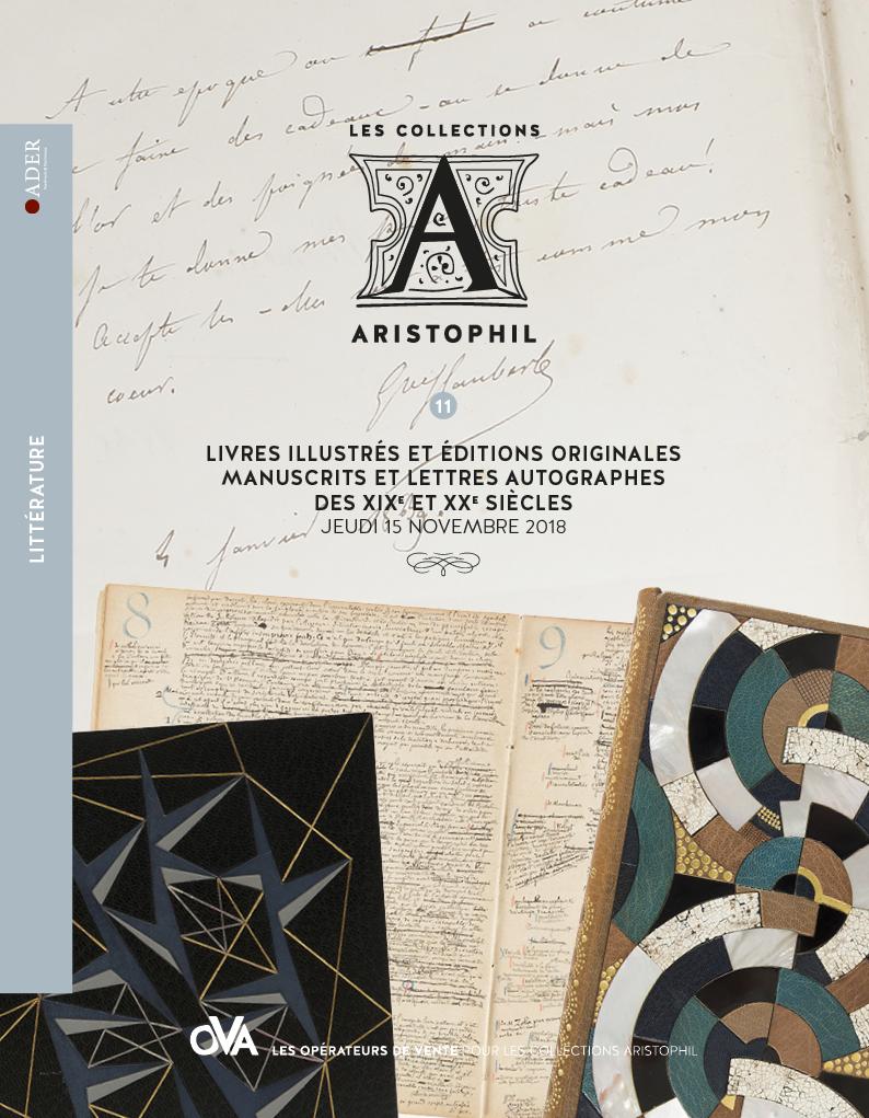 Vente Aristophil - Littérature et Livres Illustrés chez Ader : 225 lots