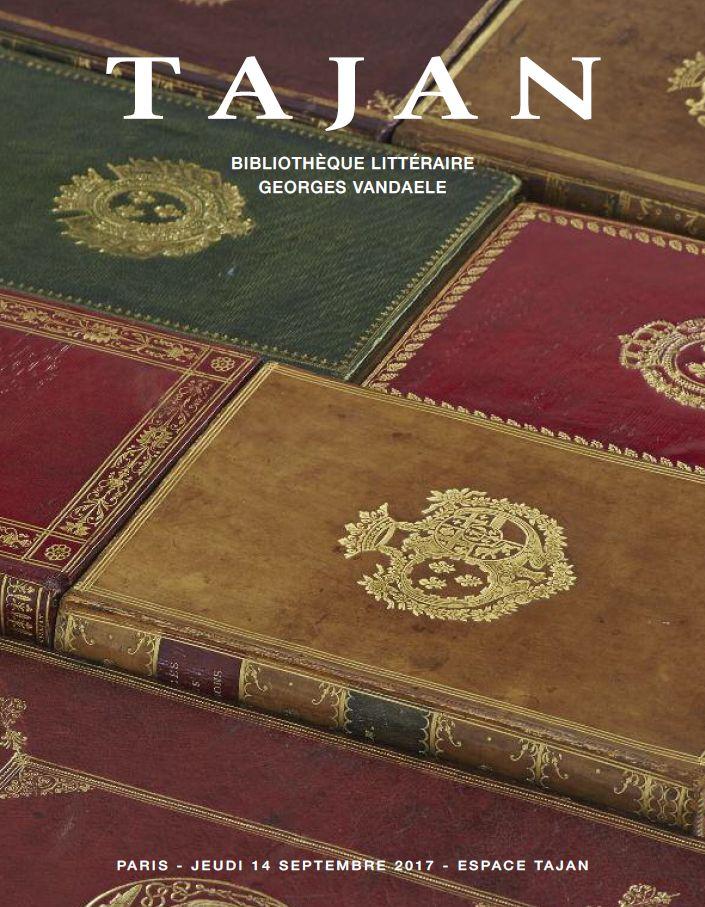 Vente Bibliothèque Littéraire Georges Vandaele chez Tajan : 384 lots