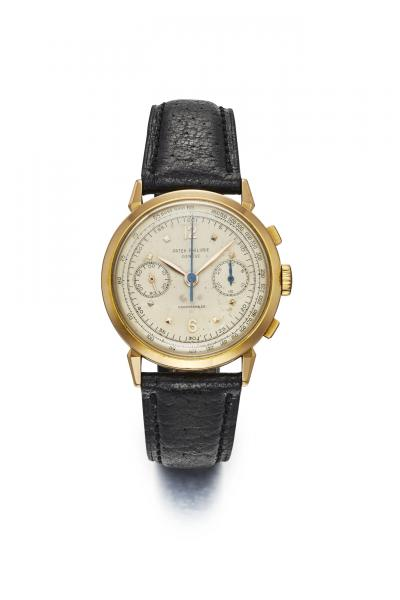 PATEK PHILIPPE FOR HAUSMANN & CO. REF. 1579, CHRONOGRAPH, MINUTE RECORDER AND [...]